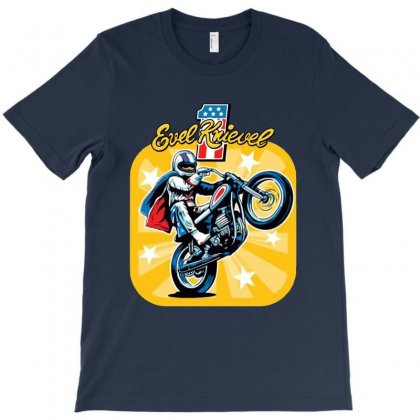 Evel Knievel Motorcycles T-shirt Designed By Blqs Apparel