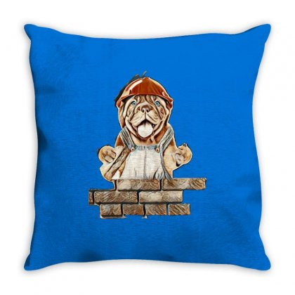 Dog Love Throw Pillow Designed By Kemnabi