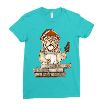 Animal Ladies Fitted T-shirt Designed By Kemnabi