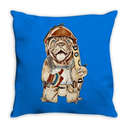 My Dog Throw Pillow Designed By Kemnabi