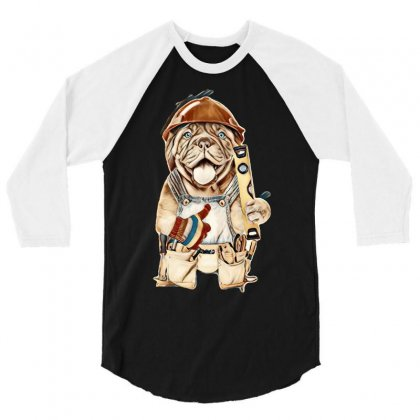 My Dog 3/4 Sleeve Shirt Designed By Kemnabi