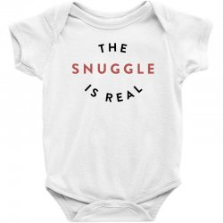 the snuggle is real Baby Bodysuit | Artistshot