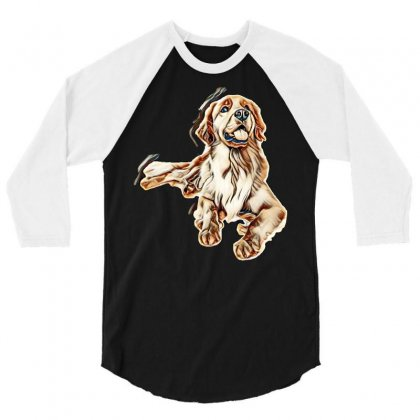 Cute Dogs 3/4 Sleeve Shirt Designed By Kemnabi