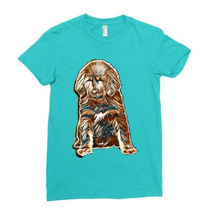 Dog Love Ladies Fitted T-shirt Designed By Kemnabi