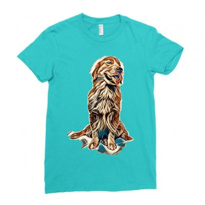 Dog Lovers Ladies Fitted T-shirt Designed By Kemnabi