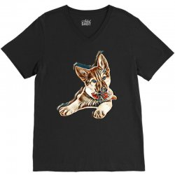 love my dog V-Neck Tee | Artistshot