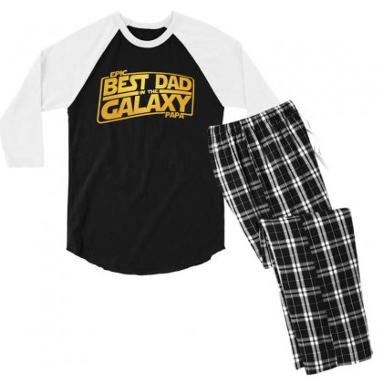 Best Dad In The Galaxy Men's 3/4 Sleeve Pajama Set Designed By Meganphoebe