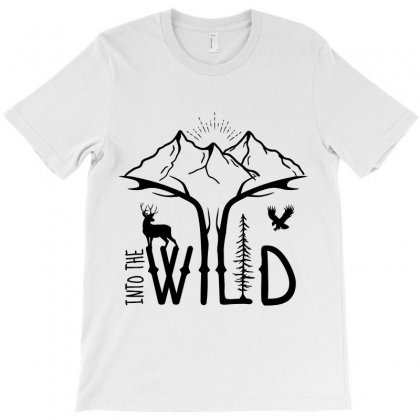 Into The Wild (black) T-shirt Designed By T-zone
