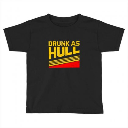 Drunk As Hull Hockey Logo Toddler T-shirt Designed By Donaagnesia
