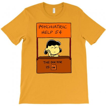 Lucy Van Pelt: The Doctor Is In T-shirt Designed By Pop Cultured