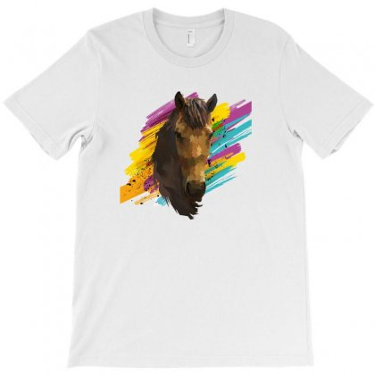 Abstract Horse T-shirt Designed By Ashrafjaradat