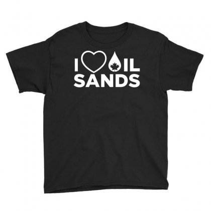 I Love Oil Sands Youth Tee Designed By Curspact
