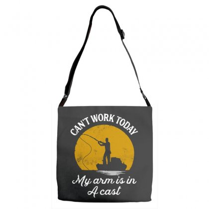 Can't Work Today My Arm Is In A Cast Adjustable Strap Totes Designed By Pinkanzee