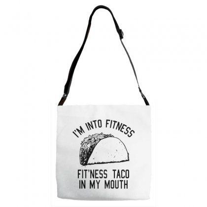 Fitness Taco In My Mouth Adjustable Strap Totes Designed By Pinkanzee