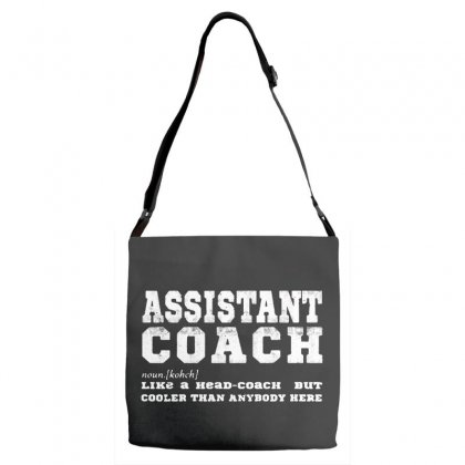 Funny Assistant Coach   For Black Adjustable Strap Totes Designed By Pinkanzee