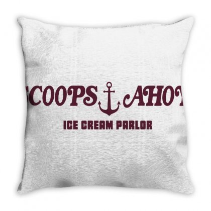 Scoops Ahoy Ice Cream Shop Throw Pillow Designed By Donaagnesia