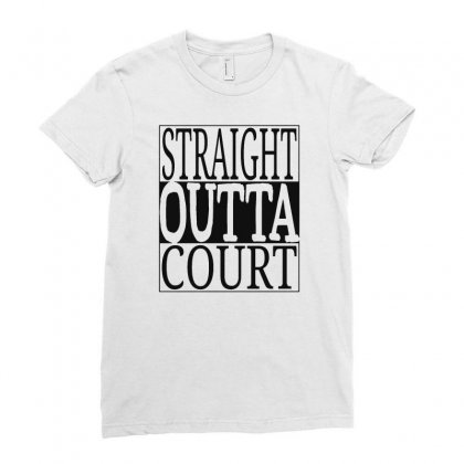 Straight Outta Court Ladies Fitted T-shirt Designed By Ande Ande Lumut