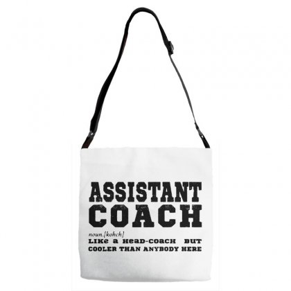 Funny Assistant Coach   For White Adjustable Strap Totes Designed By Pinkanzee