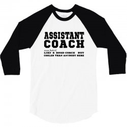 funny assistant coach   for white 3/4 Sleeve Shirt | Artistshot