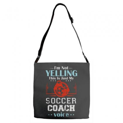I'm Not Yelling This Is My Soccer Coach Voice Adjustable Strap Totes Designed By Pinkanzee
