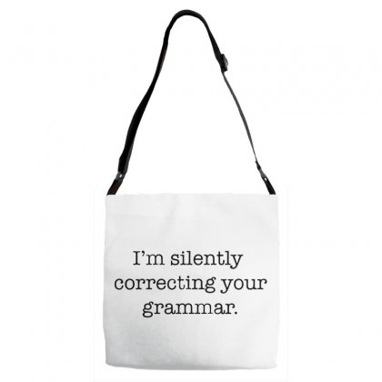 I'm Silently Correcting Your Grammar   Black Adjustable Strap Totes Designed By Pinkanzee