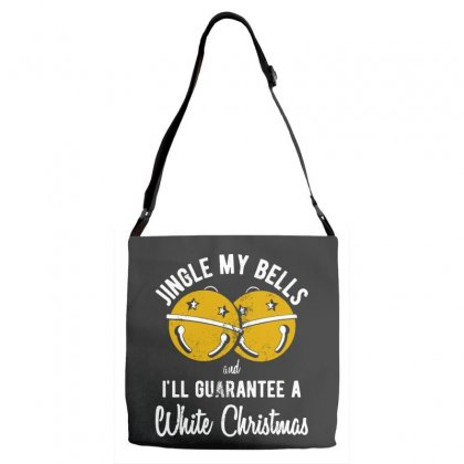 Jingle My Bells Adjustable Strap Totes Designed By Pinkanzee