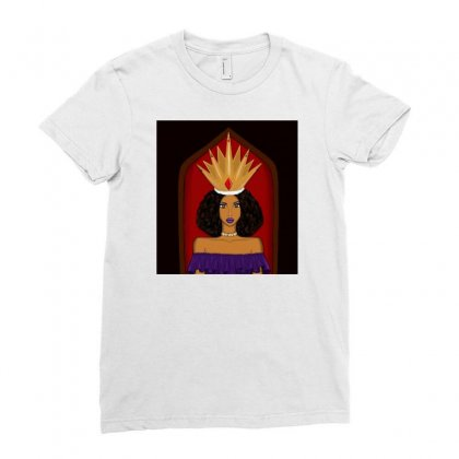 Queen (2) Ladies Fitted T-shirt Designed By Shineca