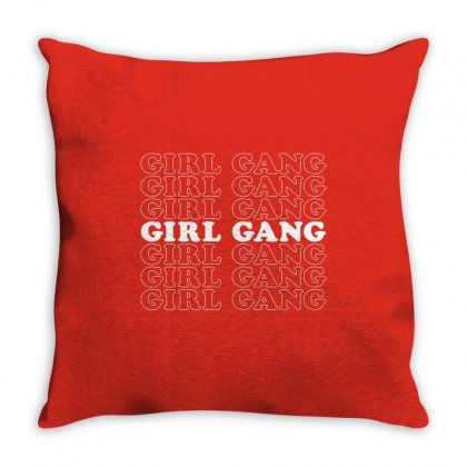Girl Gang Throw Pillow Designed By Toweroflandrose