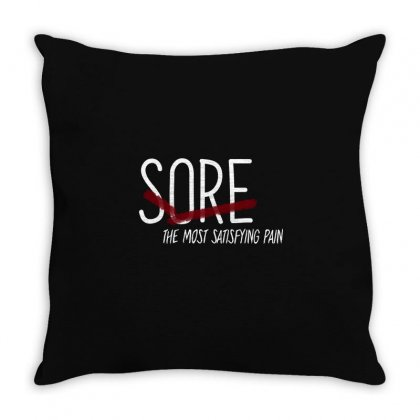 Sore. The Most Satisfying Pain Throw Pillow Designed By Alawi Dalaali