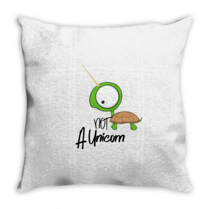 Not A Unicorn Throw Pillow Designed By Alawi Dalaali