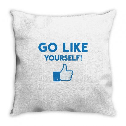 Go Like Yourself Throw Pillow Designed By Toweroflandrose