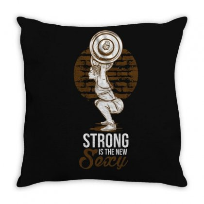 Strong Sexy Throw Pillow Designed By Disgus_thing