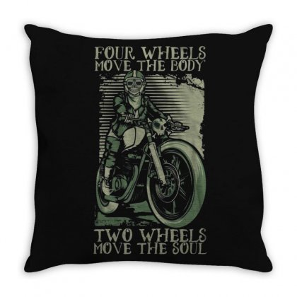 Skull Rider Throw Pillow Designed By Disgus_thing