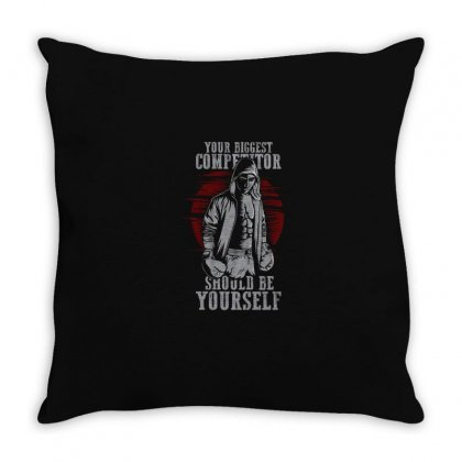 Competitor Throw Pillow Designed By Disgus_thing