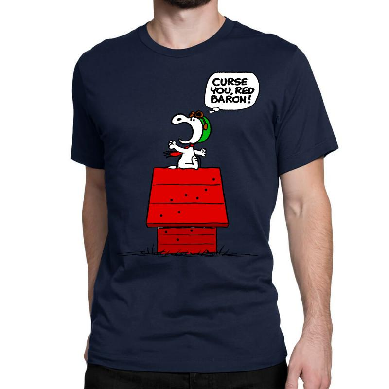 Snoopy: Curse You Red Baron! Classic T-shirt | Artistshot