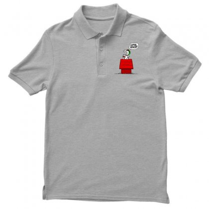 Snoopy: Curse You Red Baron! Men's Polo Shirt Designed By Pop Cultured