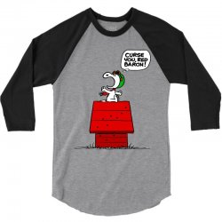 Snoopy: Curse You Red Baron! 3/4 Sleeve Shirt | Artistshot