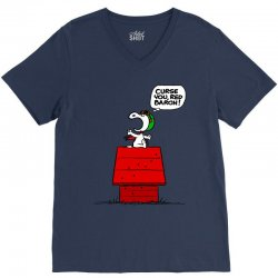 Snoopy: Curse You Red Baron! V-Neck Tee | Artistshot