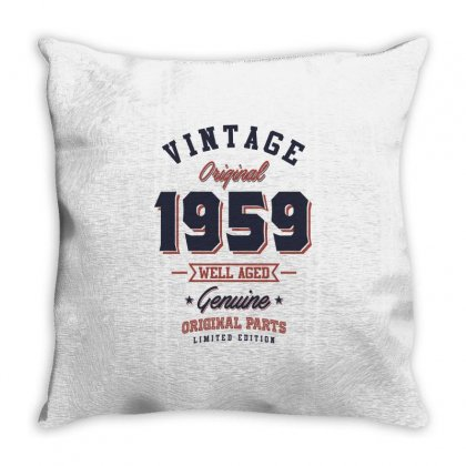 Born In 1959 Birthday Throw Pillow Designed By Cidolopez