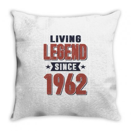 Born In 1962 Birthday Throw Pillow Designed By Cidolopez