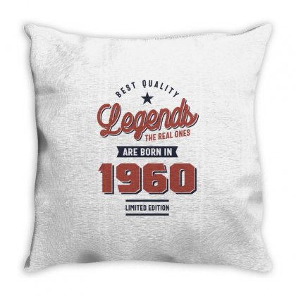 Born In 1960 Birthday Throw Pillow Designed By Cidolopez