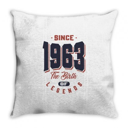Born In 1963 Birthday Throw Pillow Designed By Cidolopez