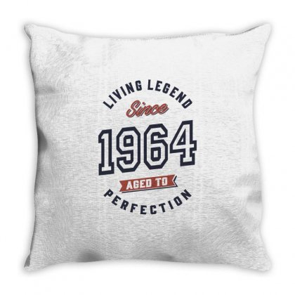 Born In 1964 Birthday Throw Pillow Designed By Cidolopez