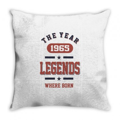 Born In 1965 Birthday Throw Pillow Designed By Cidolopez