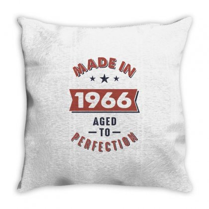 Born In 1966 Birthday Throw Pillow Designed By Cidolopez
