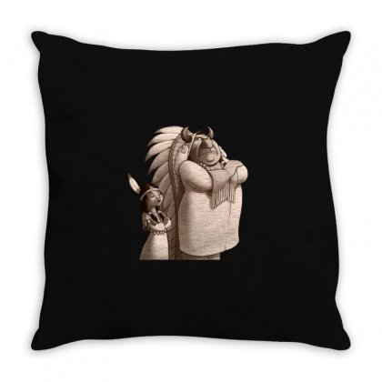 Indians Cartoons Throw Pillow Designed By Disgus_thing