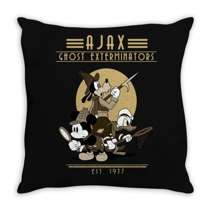 Vintage Cartoon Throw Pillow Designed By Disgus_thing