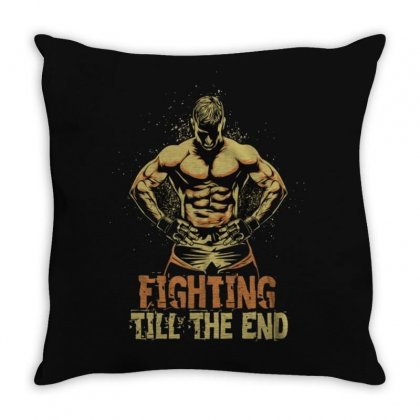 Fighting Throw Pillow Designed By Disgus_thing