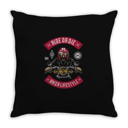 Ride Or Die Throw Pillow Designed By Disgus_thing
