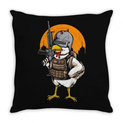 Soldier Chicken Throw Pillow Designed By Disgus_thing